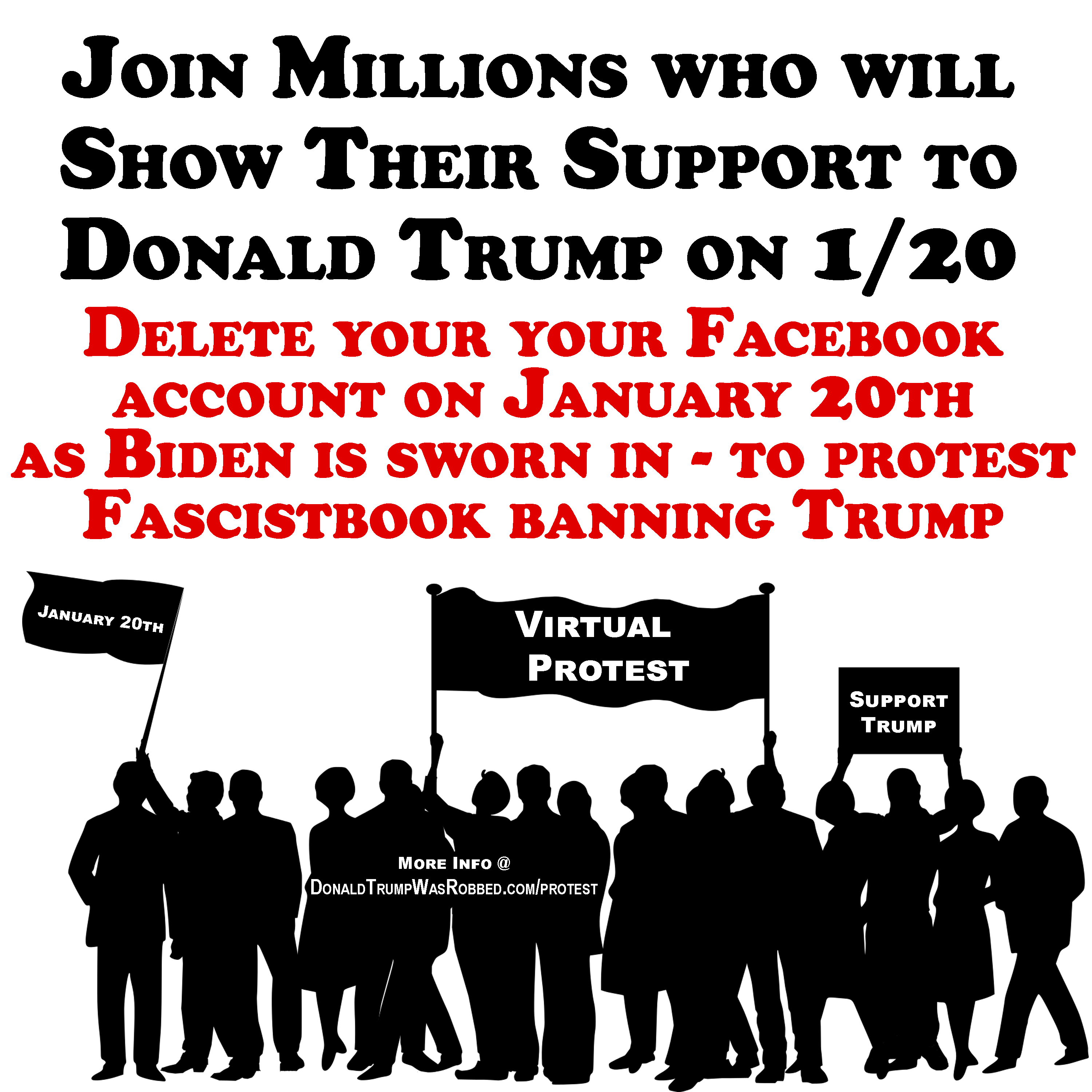Millions To Show Support of Trump With Virtual Protest